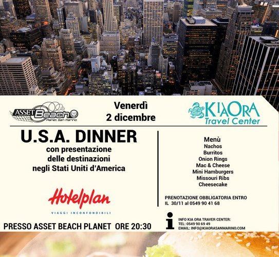 U.S.A. DINNER – 02 Dicembre 2016
